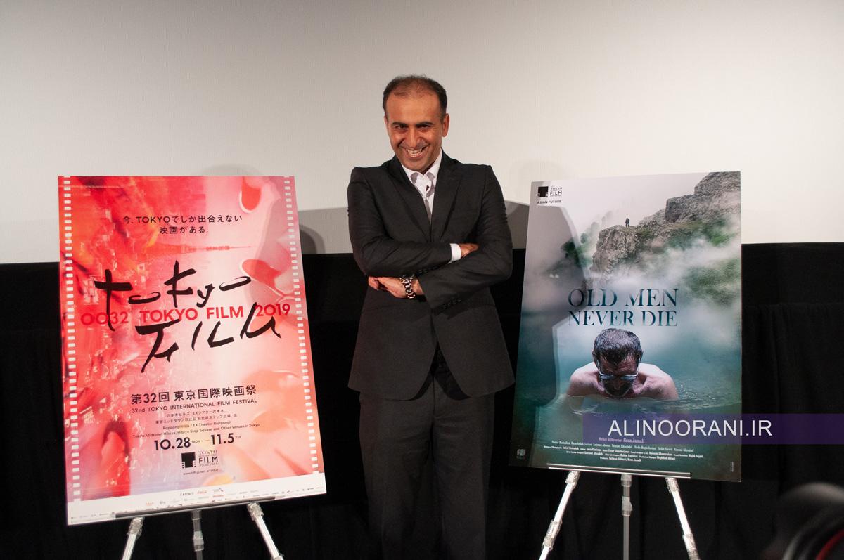 رضا جمالی در جشنواره فیلم توکیو. عکس علی نورانی