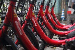 دوچرخه های اشتراکی ژاپنی، عکس از علی نورانی