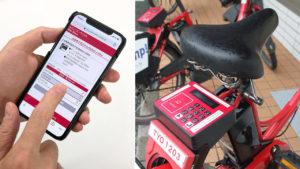 برای گرفتن دوچرخه، باید روی گوشی هوشمند خود ایستگاه و شماره دوچرخه را در وبسایت انتخاب کنید و سپس کد ارائه شده را روی پنل دوچرخه وارد کنید.