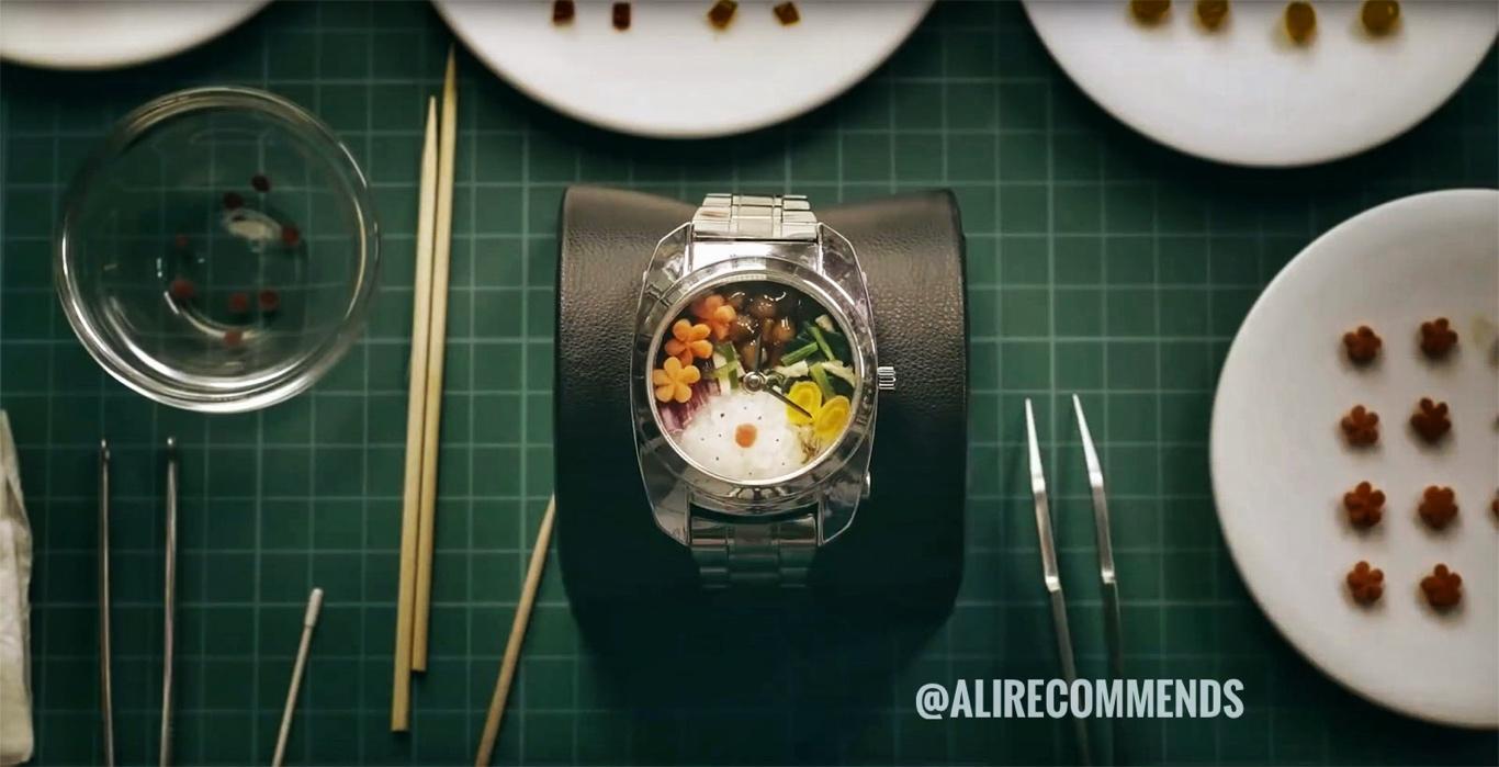 ساعت مچی ژاپنی که ظرف غذا می شود
