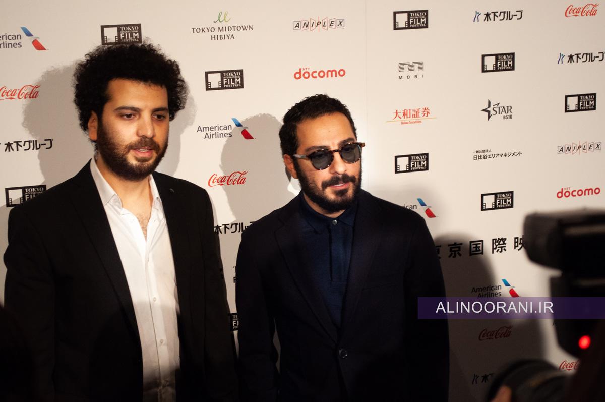 سعید روستایی کارگردان و نوید محمدزاده بازیگر اصلی متری شش و نیم در جشنواره فیلم توکیو 2019