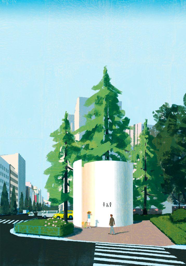 بنیاد ژاپن در Shibuya Toilet Project قصد دارد در ۱۷ نقطه در شیبویا سرویس های بهداشتی عمومی را از نو طراحی کند.
