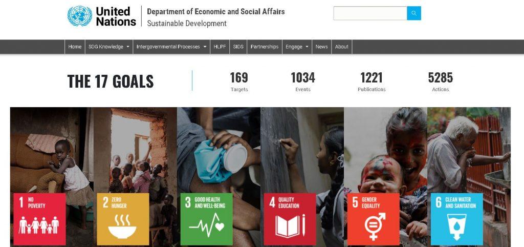 اهداف یک تا شش در فهرست ۱۷ گانه اهداف توسعه پایدار سازمان ملل